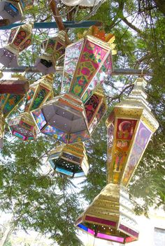 egyptian ramadan lanterns - very festive