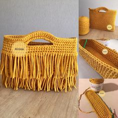 Crochet Bag Crossbody Bag Handmade Bag S - Diy Crafts - Qoster Bag Crochet, Crochet Clutch, Crochet Diy, Crochet Handbags, Crochet Purses, Love Crochet, Crochet Stitches, Crochet Patterns, Crochet Video