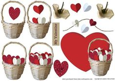 basket with hearts on Craftsuprint - Add To Basket!