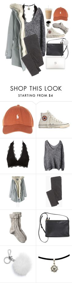 """study break."" by gre17 ❤ liked on Polyvore featuring Converse, Charlotte Russe, Wrap, Madewell, Fat Face and Michael Kors"