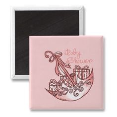 Pink Girl Baby Shower Magnet