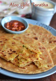 Aloo Gobi Paratha Recipe - How to make easy aloo gobi paratha