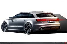 Audi RS 6 design drawing by the Audi Design Team