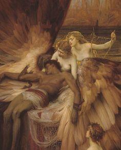 """6,367 mentions J'aime, 29 commentaires - Paintings Daily (@paintings.daily) sur Instagram: """"Herbert James Draper, The Lament for Icarus (1898), (detail) #art #historyofart #arthistory…"""""""
