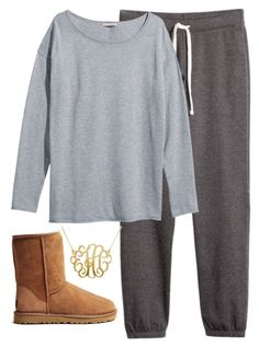 """""""comfy"""" by whitegirlsets ❤ liked on Polyvore featuring H&M, UGG Australia, women's clothing, women, female, woman, misses and juniors"""
