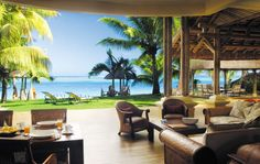 The Paradis Villas all have amazing verandahs, and you can even hire a chef to come and cook the BBQ for you.