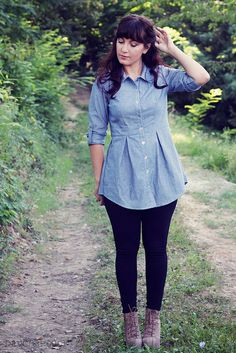 Pattern: Bruyère shirt by Deer and DoeSize: 40 bust and waist, 42 hipsAlterations: I added sleeve...