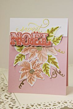 Noel Card by Erin Lincoln for Papertrey Ink (October 2014)