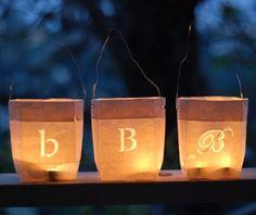 Blush and Bashful: DIY: Paper Bag Lanterns