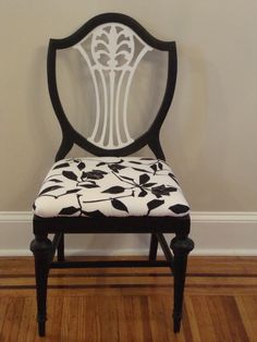 Refurbished antique chair by WitzendVintage on Etsy