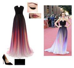 """""""Lily Collins slaying this beautiful dress!!!"""" by emmaruus on Polyvore"""