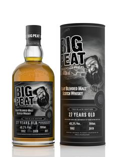 Big Peat, revered Islay Malt Scotch Whisky brand, today unveils the final release in this Aged Trilogy Vintage Series – the 27 Years Old Black Edition. Whisky Islay, Scotch Whisky, Blended Whisky, Cheer Party, People Having Fun, 27 Years Old, Black Edition, Bourbon, Whiskey Bottle