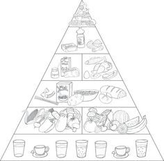 """Materialkiste: """"How to stay healthy"""" Healthy nutrition # Staying on a diet # Nutrition # Education Art Education Healthy Nutrition, Healthy Recipes, Healthy Food, Healthy Habbits, Food Pyramid, Science, Primary School, Art Education, Nutrition Education"""