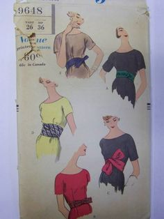 Rare Vintage 1950s Vogue 9648 BELTS Pattern waist sz 26 COMPLETE by RaggsPatternStash on Etsy