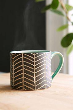 Jessica Wertz X UO Chevron Hand-Carved Mug