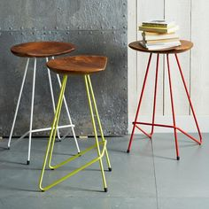 stool love affair - white's typically my go to, but really loving the yellow?!