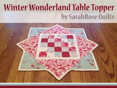 Winter Wonderland Christmas Table Topper, directions included in this blog!,
