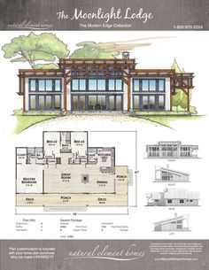 This modern edge home plan is Square Foot, 3 Bedrooms, 2 Bathrooms Modern Edge Cabin House Plans, Family House Plans, Tiny House Cabin, Small House Plans, Mountain Dream Homes, Modern Mountain Home, Rancher Homes, Hastings House, Cabin Chic