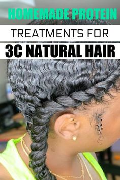 Our easy to DIY homemade treatments for 3c natural hair. #3chair #naturalhair #hairtreatmentforgrowth