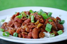 Slow Cooker Red Beans and Rice with Cajun Conecuh Sausage ~ June 2015 Country Kitchen Conecuh sausage recipes