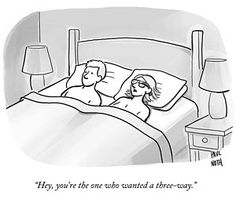 Technology Drawing - A Man And A Woman Lie In Bed by Paul Noth