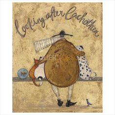 Sam Toft | Collier & Dobson Oil Pastel Crayons, Flowers Delivered, Found Art, Framed Prints, Art Prints, Whimsical Art, Limited Edition Prints, Lovers Art, Fine Art Paper