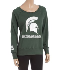 This Michigan State Spartans Scoop Neck Pullover - Women is perfect! #zulilyfinds