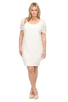 Off-White Crochet Sheath Dress #MyTorridSummer