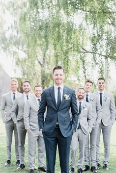 Earth to Table: The Farm Wedding in Flamborough, Ontario – Jenn Kavanagh Earth to Table: The Farm Wedding in Flamborough, Ontario – Jenn Kavanagh,Hochzeit Mismatched groom and groomsmen suits by Jenn Kavanagh Photography Related. Mismatched Groomsmen, Casual Groom Attire, Groom And Groomsmen Suits, Groomsmen Outfits, Bridesmaids And Groomsmen, Grey Suit Groom, Grooms Men Attire, Groom And Groomsmen Pictures, Navy Blue Groomsmen