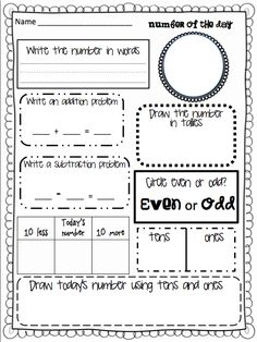 # of the Day! Great ice breaker for math.  For my Grade 2s