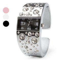 Alloy Band Quartz Bracelet Watch For Women. Get wonderful discounts up to Off at Light in the box using Coupon and Promo Codes. Armani Watches For Men, Cheap Bracelets, Time 7, Beautiful Watches, Watch Sale, Watches Online, Fashion Handbags, Cool Watches, Fashion Watches