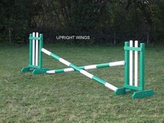 wooden horse jumps - Bing Images I think I will paint the next jump I make like this.