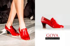 GOYA novedad www.begonacervera.com Kitten Heels, Dance Shoes, How To Wear, Fashion, Templates, Professional Shoes, Custom Shoes, Patent Leather, Heels