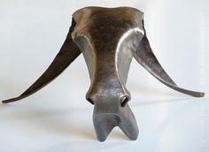 Metal sculpture Goat head Metal art Year of the by KleinManzanoArt