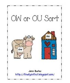 Printables Ou Ow Worksheets collection of ou and ow worksheets bloggakuten 1000 images about owou activities on pinterest word sorts
