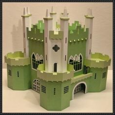 3D Big Castle Free Papercraft Download | PaperCraftSquare.com - here's one for daddy to make for his little girl.