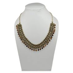 Festival Gift Tiger's Eye  Brass Trible Necklace Women Jewelry PG 7892 #PinkCityGems #Necklace