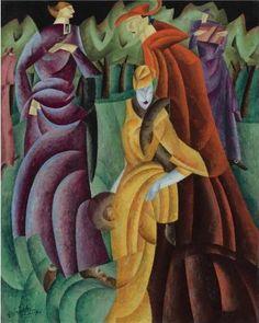 Lyonel Feininger's painting Jesuiten III (Jesuits III), 1915 - Lyonel Feininger - Wikipedia, the free encyclopedia