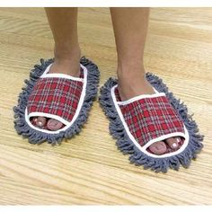 Haha... This would be perfect for the house.  $9.02 - Dust Mop Slippers