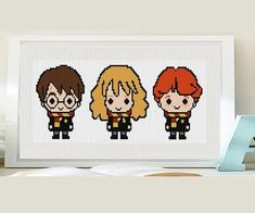 Check out our harry potter cross stitch selection for the very best in unique or custom, handmade pieces from our shops. Modern Cross Stitch, Cross Stitch Designs, Cross Stitch Patterns, Harry Potter Cross Stitch Pattern, Marvel Cross Stitch, Star Wars Christmas, Snoopy Christmas, Retro Christmas, Christmas Cross