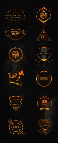 Futuristic Insignias on Behance https://www.behance.net/gallery/16804667/Futuristic-Insignias
