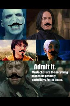 Harry Potter + Mustaches