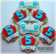 Paw Patrol inspired cookies for birthday by ChrisCreativeConfect