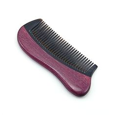 Calcifer@ Exquisite Violet Wood Comb Massage Health Care Horn Comb Crafts -- Click image for more details. Wood Comb, Hair Comb, Horn, Health Care, Massage, Image Link, Amazon, Crafts, Fashion
