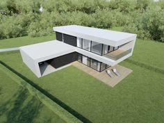 Individual modern Architectural design and concepts. Good House, Modern House Design, Architecture Design, House Plans, House Ideas, Villa, Exterior, Outdoor, House Siding