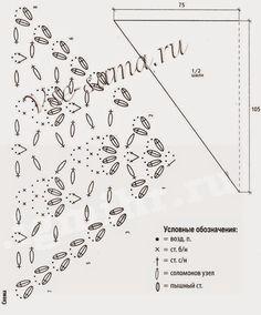 мир рукоделия(вязание,вышивка,шитьё и т.д.): шали крючком со схемами