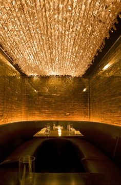 Creative lighting creates ambience in a room!
