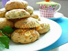 Dereotlu Poğaça Baked Potato, Muffin, Potatoes, Bread, Baking, Breakfast, Ethnic Recipes, Sign, Food