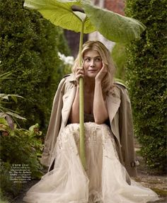 enchantée: english rose of autumn: rosamund pike graces towncountry