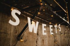 cute sign for dessert tables // photo by Jamie Clayton